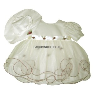 Princess Cream-Wine Baby Girls Dress