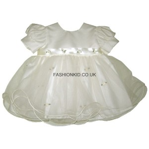 Princess Cream Baby Girls Dress