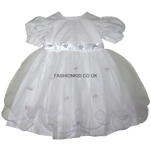 Princess White-Lilac Baby Girls Dress