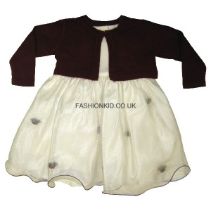 Fairy Wine-Cream Baby Girls Dress