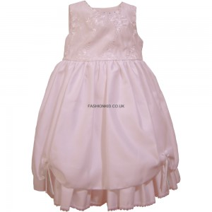Flowery Formal Pink Party Girls Dress