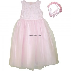 First Communion Pink Girls Party Dress