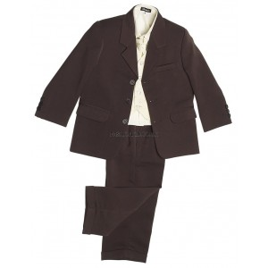 Boys 5 Piece Brown Suit
