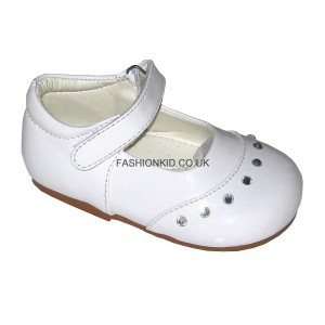 Fairy White Studded Toe Baby Girls Shoes
