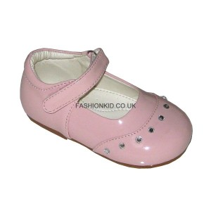Fairy Pink Studded Toe Baby Girls Shoes