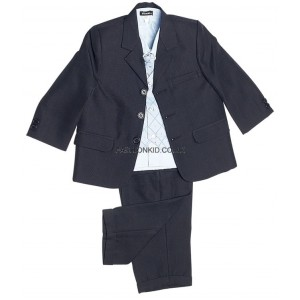 Boys 5 Piece Check Suit