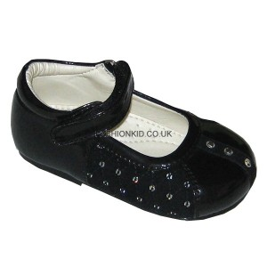 Princess Black Sequin Baby Girls Shoes