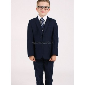 Boys 5 Piece Navy Suit