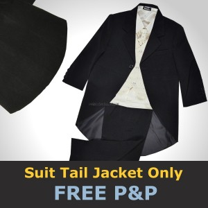 Black Quality Suit Royal Tail Jacket Coat School Prom Christening Formal Page Boys Wedding