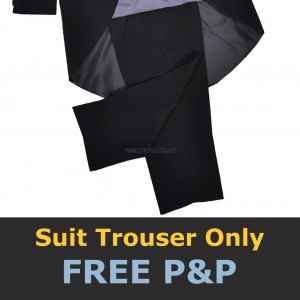 Black Quality Suit Pant Trouser School Prom Christening Formal Page Boys Wedding
