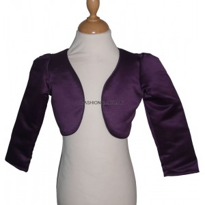 Girl Bolero Top - Long Sleeved Purple