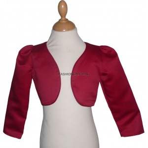 Girl Bolero Top - Long Sleeved Red