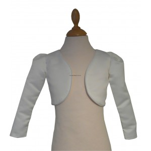 Girl Bolero Top - Long Sleeved Ivory (Cream)