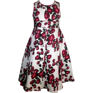 Rose Print Girls Dress