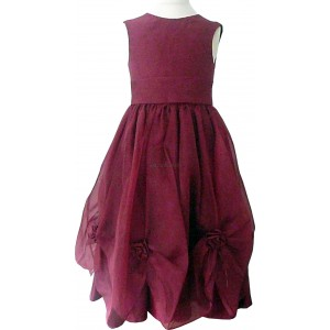 Bridesmaid Wine Girls Wedding Party Dress