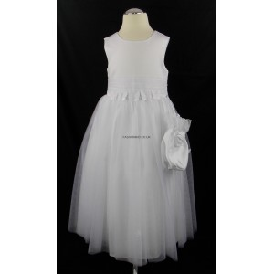 Girls White Butterfly Fairytale Dress with FREE Drawstring Pouch Bag!
