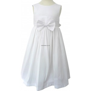 Pretty Ivory Bow Waist Girls Party Dress