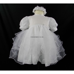 Little Girl Butterfly Princess White Headband Dress