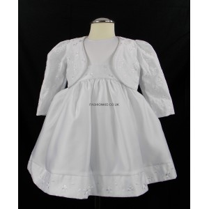 Baby 2 Piece Bolero White Jacket Dress