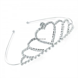Silver Colour Crystal Tiara