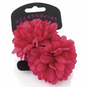Fuschia Flower Ponytail Hair Bobble