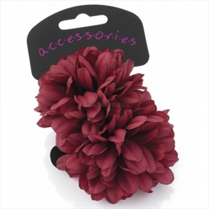 Wine (Burgundy) Flower Ponytail Hair Bobble