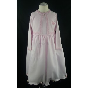 Pink Girls Dress with Matching Long Sleeved Soft Cardigan