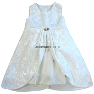 Floral Cream Party Girls Dress
