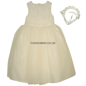 First Communion Cream Girls Party Dress