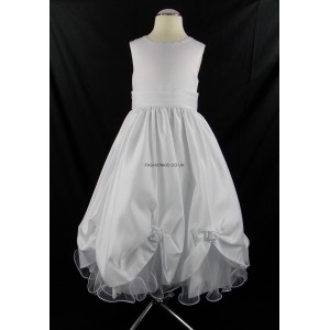 Girls Superior Bridesmaid Party Dress in White