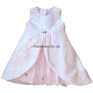 Floral Pink Party Girls Dress
