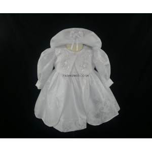 Floral Embroidery White Baby Girls Dress
