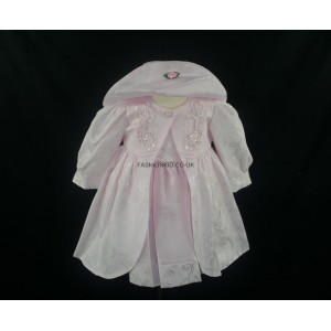 Floral Embroidery Pink Baby Girls Dress