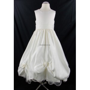 Girls Superior Bridesmaid Party Dress in Cream (Ivory)