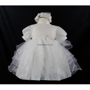 Little Girl Butterfly Princess Ivory Headband Dress