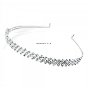 Silver Colour Crystal Headband