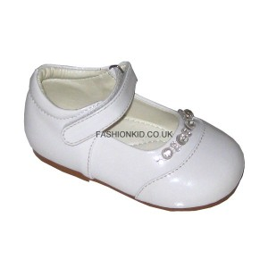Diamond White Baby Girls Shoes