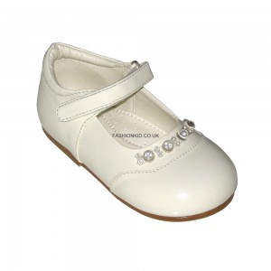 Diamond Cream Baby Girls Shoes