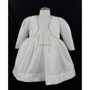 Baby 2 Piece Bolero Cream/Ivory Jacket Dress