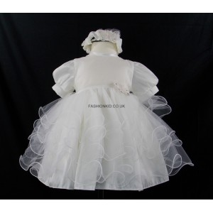 Little Girl Butterfly Princess Ivory Headband Dress